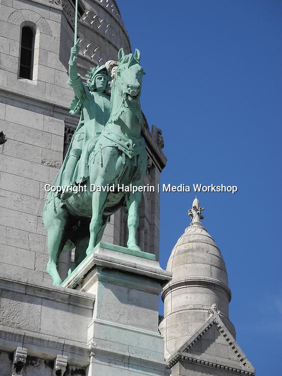Statue, Cathredral of Sacre Coeur, Montmartre, Paris