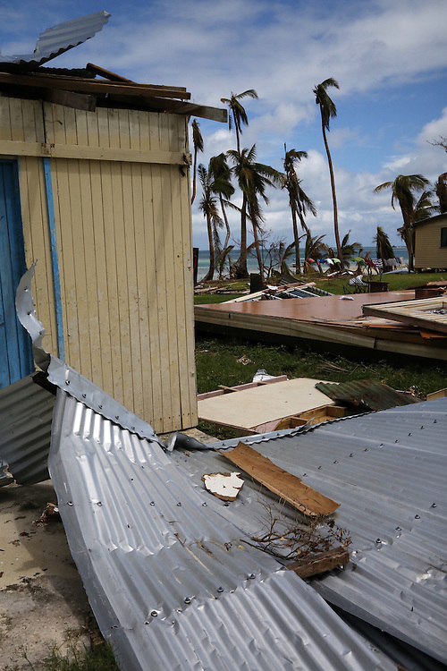 The damage of cyclone Winston to the village of Marou on Naviti Island, Fiji, Friday, February 26, 2016. Credit:SNPA / Richard Moore