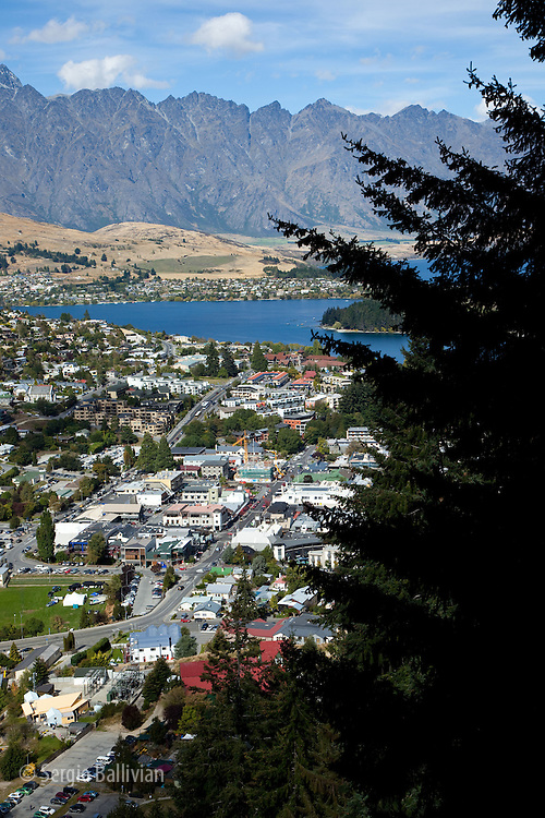 The view from the cable car of Queenstown, New Zealand, South Island.