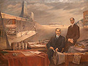 Wright brother Painting in Baker Center