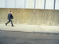 Businessman Walking on Street