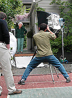 Tim shooting for Buck and Buck, Inc catalog.