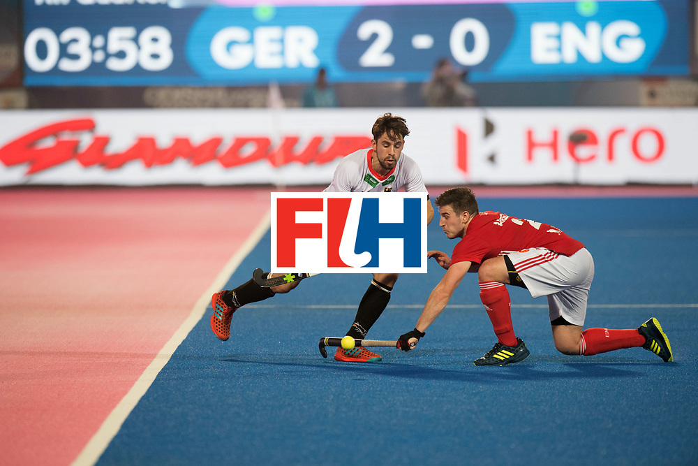 Odisha Men's Hockey World League Final Bhubaneswar 2017<br /> Match id:01<br /> Germany v England<br /> Foto: Benedikt Fuerk (Ger) and Liam Ansell (Eng)  <br /> WORLDSPORTPICS COPYRIGHT FRANK UIJLENBROEK