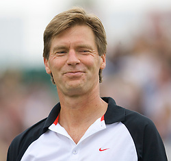 Liverpool, England - Saturday, June 16, 2007: Peter Fleming in action during Legends Doubles on day five of the Liverpool International Tennis Tournament at Calderstones Park. For more information visit www.liverpooltennis.co.uk. (Pic by David Rawcliffe/Propaganda)