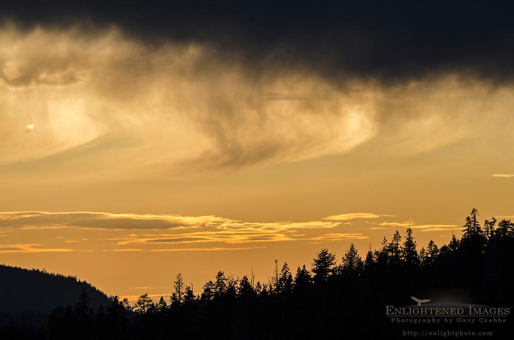 Clouds at sunset, Lassen Volcanic National Park, California