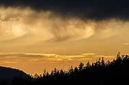 Clouds at sunset, Lassen Volcanic National Park, California