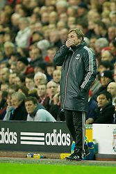LIVERPOOL, ENGLAND - Tuesday, March 13, 2012: Liverpool's manager Kenny Dalglish during the Premiership match against Everton at Anfield. (Pic by David Rawcliffe/Propaganda)