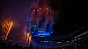 Fireworks during Fan Fest at Bank of America Stadium, Friday, Aug. 2, 2019, in Charlotte, NC. (Brian Villanueva/Image of Sport)
