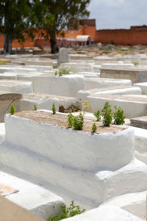 Miaara Jewish Cemetery in the Mellah (Jewish Quarter), Marrakesh, Marrakech Medina, Morocco