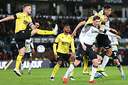 Derby put the Millwall defence under pressure during the EFL Sky Bet Championship match between Derby County and Millwall at the Pride Park, Derby, England on 14 December 2019.