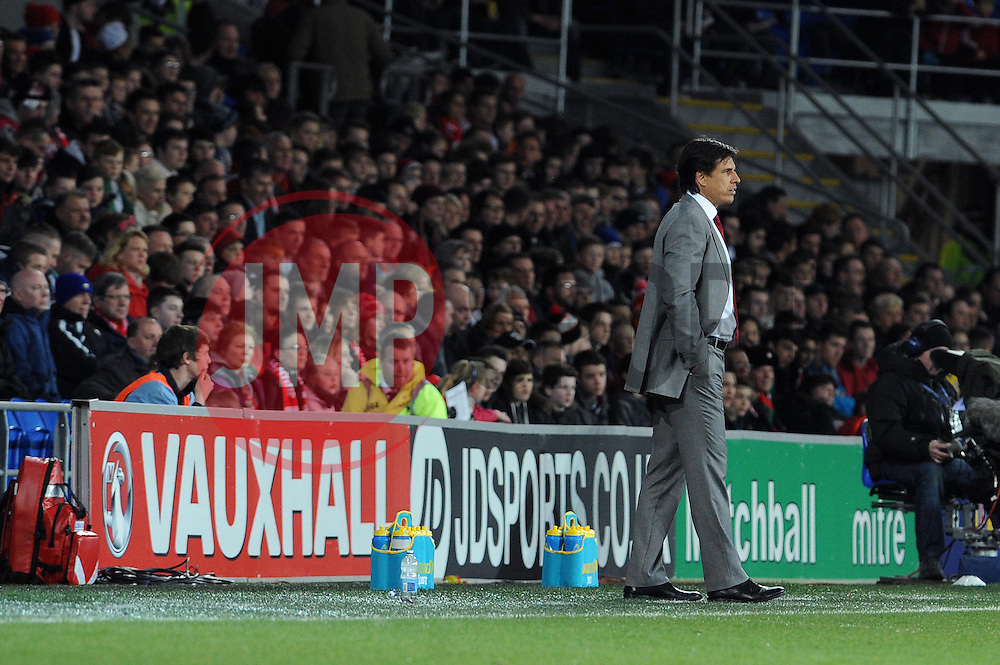 Wales Manger Chris Coleman - Photo mandatory by-line: Dougie Allward/JMP - Tel: Mobile: 07966 386802 03/03/2014 -