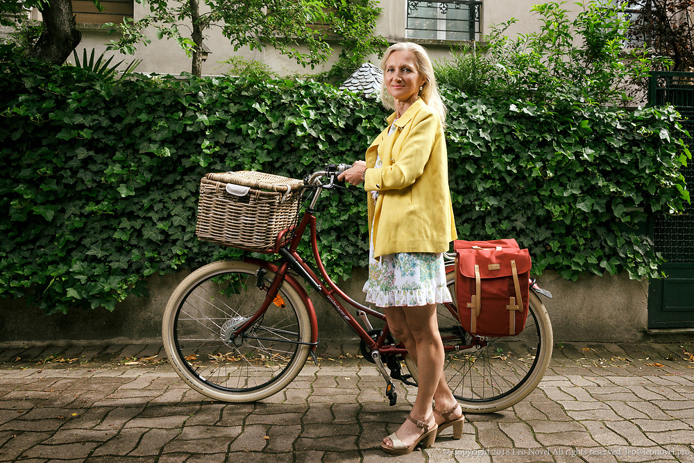 18  May  2017 &ndash; Paris, France<br /> Clara Gaymard co-founder of Raise cycles to work.