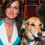NLD/Amsterdam/20130828- Vara Najaarspresentatie 2013, Janine Abbrink met haar hond