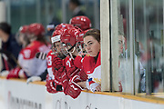 The Russian bench in the second period during the Nagano Olympics Paralympics 20th Anniversary Games at Nagano on Monday, December 25, 2017. 25/12/2017-Nagano, JAPAN.