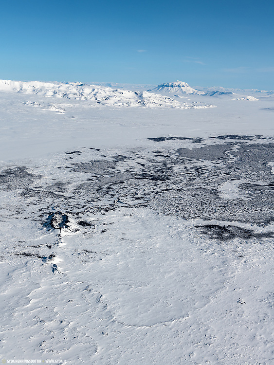 Holuhraun in wintertime 2018