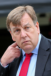 © Licensed to London News Pictures. 03/009/2019. London, UK. JOHN WHITTINGDALE MP for Maldon (R) in College Green. MPs return to Westminster for a no deal  showdown that could result in a snap election. Photo credit: Dinendra Haria/LNP