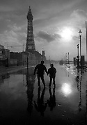 PHOTOGRAPH BY HOWARD BARLOW.STORM CLOUDS GATHER OVER BLACKPOOL