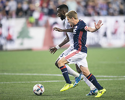 August 12, 2017 - Foxborough, Massachusetts - August 12, 2017:  The New England Revolution (blue/white) beat Vancouver Whitecaps FC  (white) 1-0 in a Major League Soccer (MLS) match at Gillette Stadium. (Credit Image: © Tim Bouwer/ISIPhotos via ZUMA Wire)