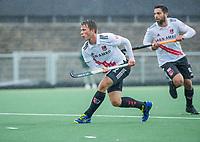 AMSTELVEEN - Teun Kropholler (Adam)  tijdens de hoofdklasse competitiewedstrijd mannen, Amsterdam-HCKC (1-0).  COPYRIGHT KOEN SUYK
