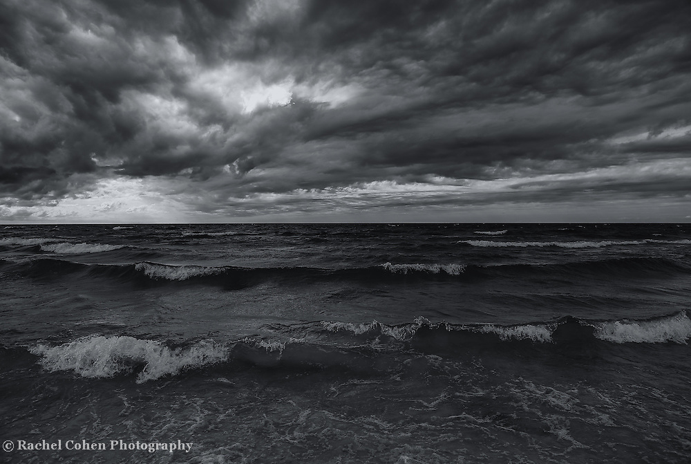 &quot;Dark Times&quot;<br /> <br /> Beautiful dark and dramatic sky over Lake Michigan!