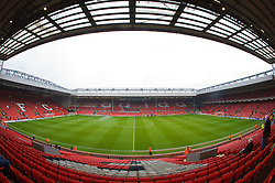 LIVERPOOL, ENGLAND - Saturday, March 15, 2008: A general view of Anfield from the Centenary Stand. (Photo by David Rawcliffe/Propaganda)