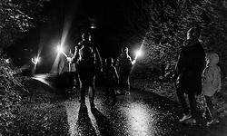 05.09.2016, Sigmund Thun Klamm, Kaprun, im Bild Fackelwanderung. Die Sagenhafte Nacht des Wassers kann von Juli bis September besucht werden, eine Nachtwanderung durch die Klamm mit anschliessendem Lagerfeuer, Musik und Geschichtenerzähler // torch hike during the Mystical Night of Water can be visited from July to September on a night walk through the Sigmund Thun gorge followed by campfire, music and storytellers, Kaprun, Austria on 2016/09/05. EXPA Pictures © 2016, PhotoCredit: EXPA/ JFK