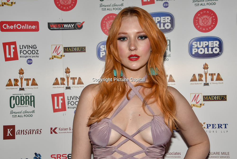 Victoria Clay attend at Asian Restaurant & Takeaway Awards | ARTA 2018 at InterContinental London - The O2, London, UK. 30 September 2018.
