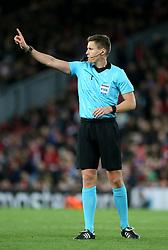 Match referee Daniel Sebert