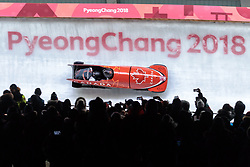 19.02.2018, Olympic Sliding Centre, Pyeongchang, KOR, PyeongChang 2018, Bob, Zweisitzer, Herren, im Bild Justin Kripps, Alexander Kopacz (CAN) // Justin Kripps Alexander Kopacz of Canada during the mens doubles Bobsleigh of the Pyeongchang 2018 Winter Olympic Games at the Olympic Sliding Centre in Pyeongchang, South Korea on 2018/02/19. EXPA Pictures © 2018, PhotoCredit: EXPA/ Johann Groder