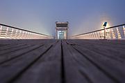 The pier at the Dutch coast of Scheveningen, The Hague.