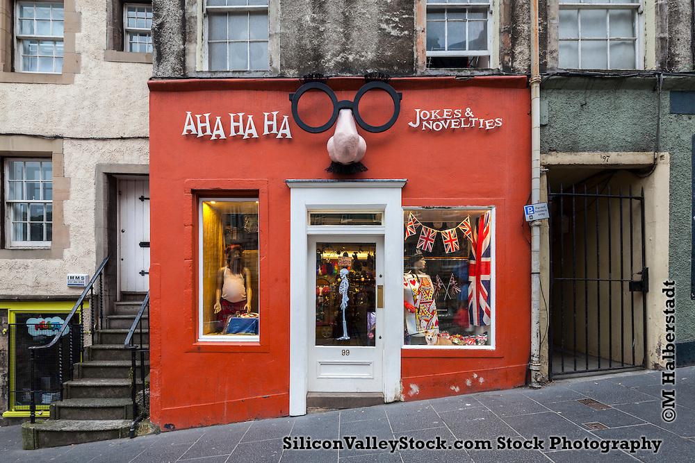 Ahahahaha, Shopfront Series, Edinburgh, Scotland, United Kingdom, Europe