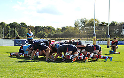 Bristol United players during warm-up at Hyde Park, Taunton - Mandatory by-line: Paul Knight/JMP - 02/10/2016 - RUGBY - Hyde Park - Taunton, England - Bristol United v Gloucester United - Aviva A League