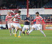 Gary Harkins is outnumbered as he runs at the Hamilton defence - Dundee v Hamilton, SPFL Premiership at Dens Park<br /> <br />  - &copy; David Young - www.davidyoungphoto.co.uk - email: davidyoungphoto@gmail.com