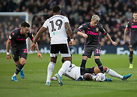 Football - 2019 / 2020 Sky Bet (EFL) Championship - Fulham vs. Leeds United<br /> <br /> Ezgjan Alioski (Leeds United) is caught by Bobby Reid (Fulham FC) as he breaks at Craven Cottage<br /> <br /> COLORSPORT/DANIEL BEARHAM
