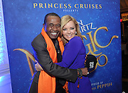 Entertainer Ben Vereen shares a moment with actress and Princess Cruises Ambassador Jill Whelan after the cruise line announced their partnership with Broadway composer Stephen Schwartz during an event at Millennium Broadway's Hudson Theatre, Thursday, March 12, 2015, in New York. (Photo by Diane Bondareff/Invision for Princess Cruises/AP Images)