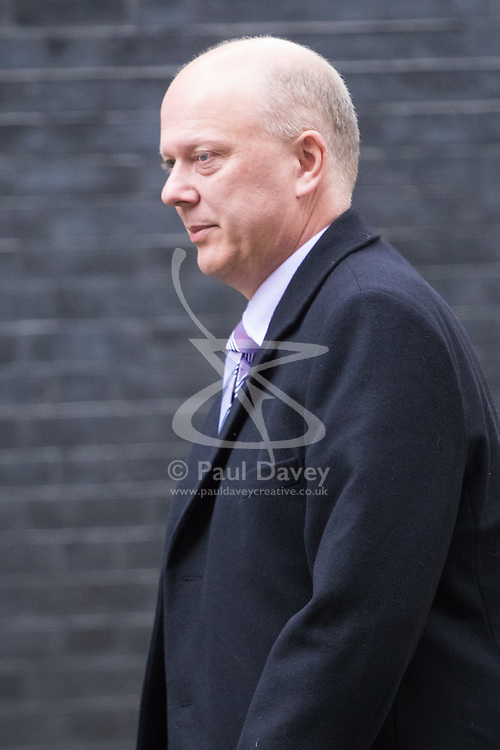 Downing Street, London, November 15th 2016.  Transport Secretary Chris Grayling arrives in Downing Street for the weekly cabinet meeting.
