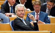 DEN HAAG - PVV-fractievoorzitter Geert Wilders tijdens de Algemene Politieke Beschouwingen in de Tweede Kamer, die traditioneel volgen op Prinsjesdag. copyrigt robin utrecht