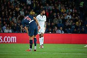 LOIS IONY (AS SAINT-ETIENNE) miised it kick to score a goal, Edinson Roberto Paulo Cavani Gomez (El Matador) (El Botija) (Florestan) (PSG) during the French Championship Ligue 1 football match between Paris Saint-Germain and AS Saint-Etienne on September 14, 2018 at Parc des Princes stadium in Paris, France - Photo Stephane Allaman / ProSportsImages / DPPI