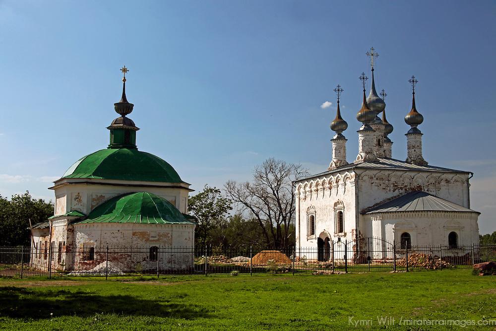 Europe, Russia, Suzdal. Pyatnitskaya Church and Church of Entry into Jerusalem.