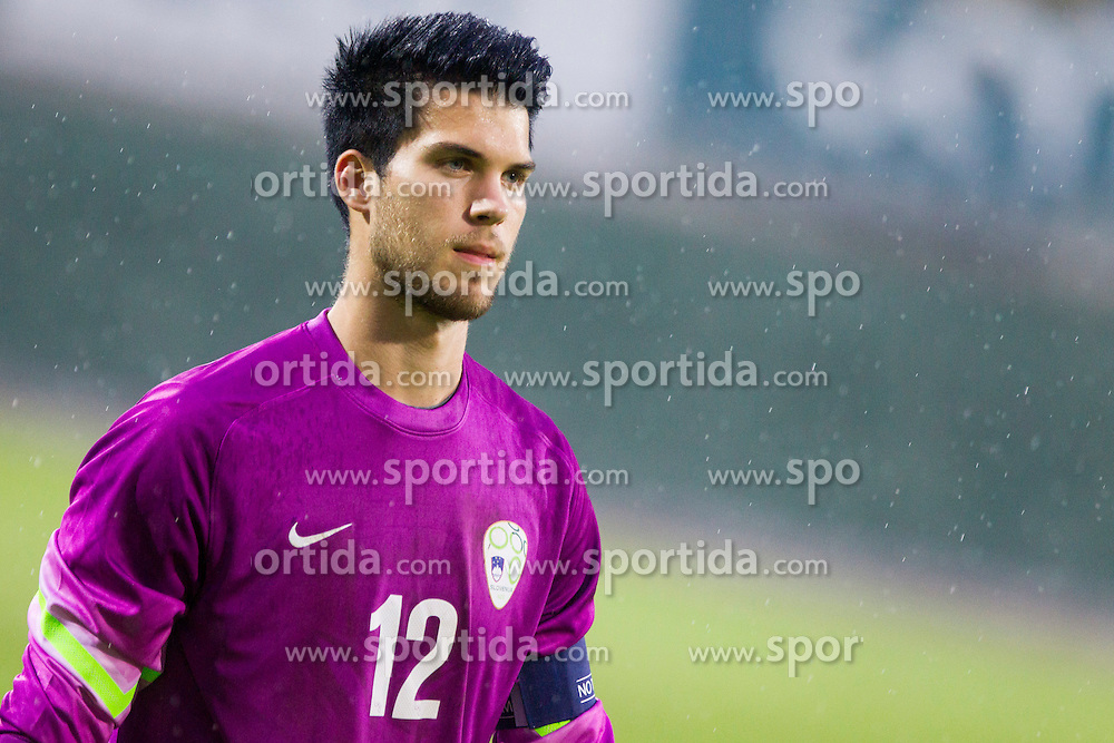 Gregor Zabret #12 of Slovenia during football match between U21 National Teams of Slovenia and Lithuania in 2nd Round of UEFA 2017 European Under-21 Championship Qualification on September 4, 2015 in Arena Petrol, Celje, Slovenia. Photo by Urban Urbanc / Sportida