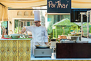 DUBAI, UAE - DECEMBER 18, 2015: Pai Thai station at the Arboretum restaurant located, in Jumeirah Al Qasr, Madinat Jumeirah Resort.