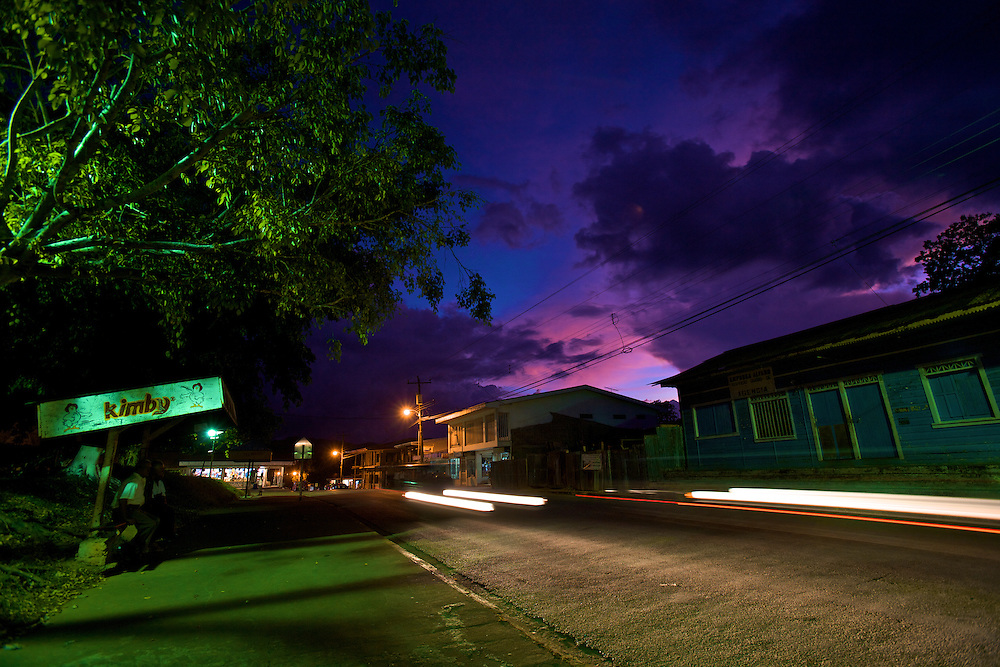 A twilight shot of of Hohanca, in the heart of Nicoya peninsula
