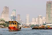 Tug Boat on the Chao Phraya River, Bangkok.