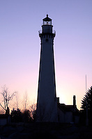 Wind Point Lighthouse was built in 1880 and stands 108 ft tall.  Wind Point is constructed of brick.  It is located in Wind Point, Wisconsin.