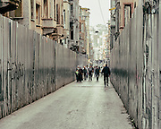 16/10/2013 - Istanbul - Tarlabasi area - Aluminium gates are all over delimiting the demolition areas.