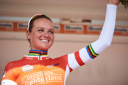 Chantal Blaak (NED) is awarded the most combative rider at Boels Ladies Tour 2018 - Stage 5, a 159.7km road race in Sittard, Netherlands on September 1, 2018. Photo by Sean Robinson/velofocus.com