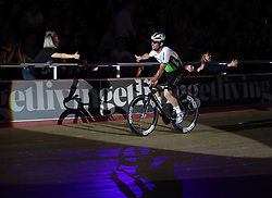 Mark Cavendish leads out the Mens Elimination race during day five of the Six Day Series at Lee Valley Velopark, London