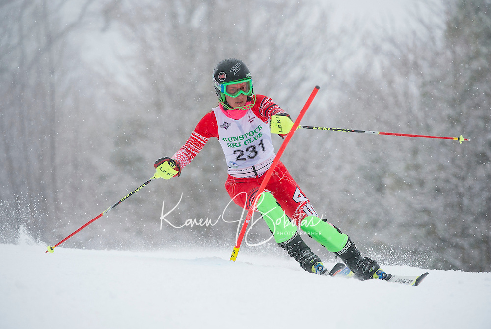 Francis Piche Giant Giant Slalom Ladies U14 on  Cannonball. ©2015 Karen Bobotas Photographer