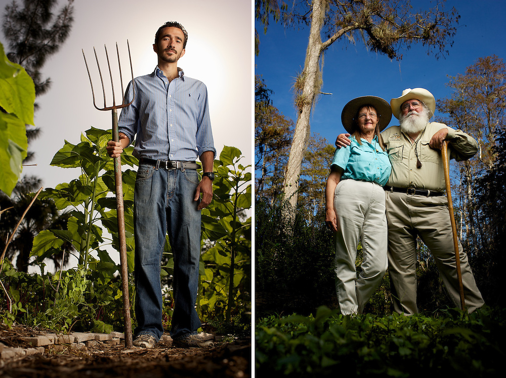 Urban Farmer and community gardener Bernard Pino of Heartland Gardens in Fort Myers. <br />