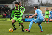 Forest Green Rovers Reuben Reid(26) on the ball during the EFL Sky Bet League 2 match between Forest Green Rovers and Coventry City at the New Lawn, Forest Green, United Kingdom on 3 February 2018. Picture by Shane Healey.